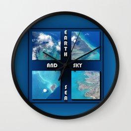 Earth Sea and Sky Wall Clock