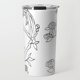 Color Your Own Chinoiserie Panels 4-5 Contour Lines - Casart Scenoiserie Collection Travel Mug