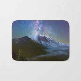 Milky Way Over Mount Rainier Bath Mat