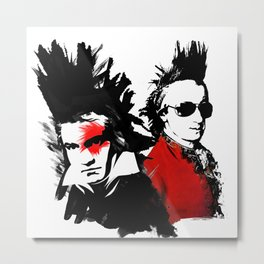 Beethoven Mozart Punk Composers Metal Print