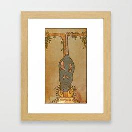 Muroidea Rat Tarot- The Hanged Man Framed Art Print