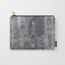 1892-Claude Monet-The Cathedral in Rouen. The portal, Grey Weather-65 x 100 Carry-All Pouch