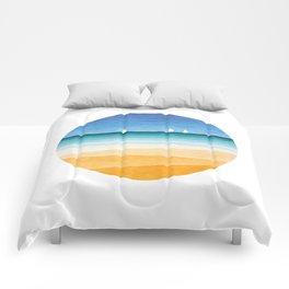 Yachts sea beach watercolor geometric Comforters