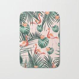 Tropical Flamingo Floral Summer Pattern #1 #tropical #decor #art #society6 Bath Mat
