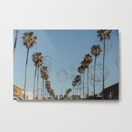 Bubbles & Palm Trees Metal Print