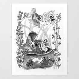Mouse in the hause illustration Art Print
