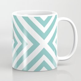 Flamingo - Abstract geometric pattern - blue and white. Coffee Mug