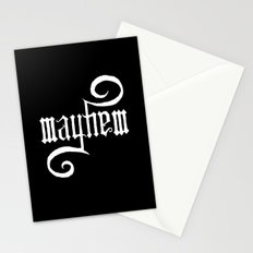 Unleash MAYHEM (Black) Stationery Cards
