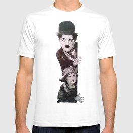 charles chaplin the kid T-shirt