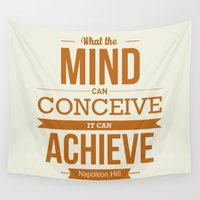 napoleon Wall Tapestries featuring Lab No. 4 - Napoleon Hill Success Quotes Inspirational Poster by Lab No. 4