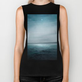 Sea Under Moonlight Biker Tank