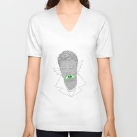 mike wrobel V-neck T-shirts featuring Mike by clemfaster