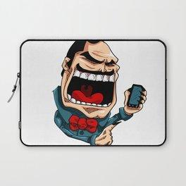 Mr. BigMouth on Social Media Laptop Sleeve