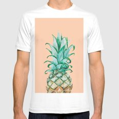 Pinapple Mens Fitted Tee MEDIUM White