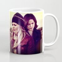 swan queen Mugs featuring Swan Queen - Lost on Land by Two Swen Idiots