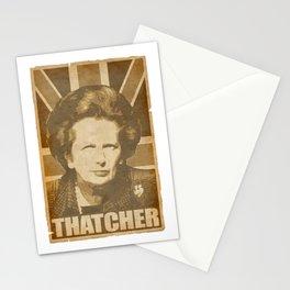 Margaret ThatcherPropaganda Poster Pop Art Stationery Cards