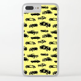 Classic Cars // Yellow Clear iPhone Case