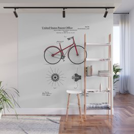 Bicycle Patent Wall Mural