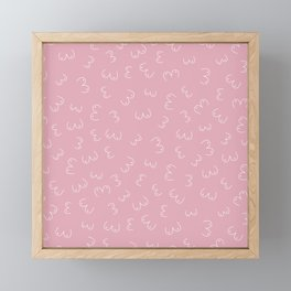 Pink Boobs Breast cancer awareness sisterhood power Framed Mini Art Print