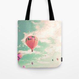 Pink nursery hot air balloons Tote Bag