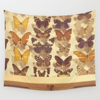 butterflies Wall Tapestries featuring butterflies by Life Through the Lens