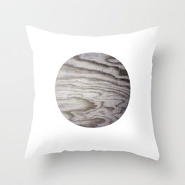 Planet Wood Throw Pillow