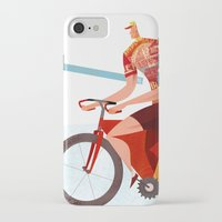 tour de france iPhone & iPod Cases featuring Bicycle Tour de France Tandem for Three by Gregory Baldwin