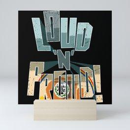 Navajo Nation Pride Loud N Proud Mini Art Print