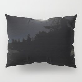 darkness, nature, landscape, moon light, night shot, no flash Pillow Sham