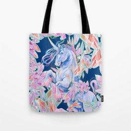 Crystal Snake Rainbow Unicorn Tote Bag