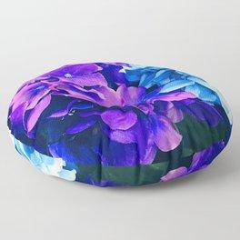 Blue And Purple Hydrangea Flowers Art Photo Floor Pillow