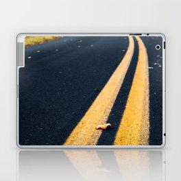 road in autumn Laptop & iPad Skin