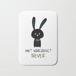Sarcastic Bunny irony teenage fun gift Bath Mat