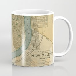 Vintage Map of New Orleans Louisiana (1893) Coffee Mug