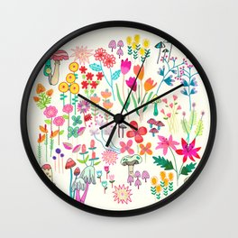 The Odd Floral Garden I Wall Clock