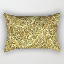 Elegant Gold Tones Vintage Damasks Rectangular Pillow