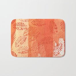 Tomato red abstract painting Bath Mat