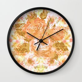 My love is a rose Wall Clock