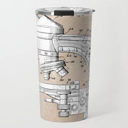 patent art microscope Travel Mug