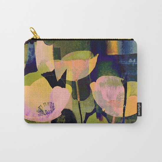 3 abstract flowers  https://society6.com/clemm?promo=X9B3VVZDM7J6 Carry-All Pouch