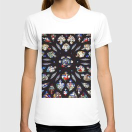 Stained glass sainte chapelle gothic T-shirt