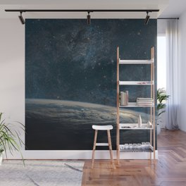Earth and galaxy. Night Sky Space Wall Mural