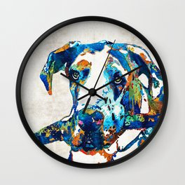 Great Dane Art - Stick With Me - By Sharon Cummings Wall Clock