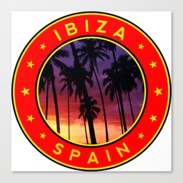 Ibiza, sunset, circle Canvas Print