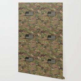 U.S. Flag: Woodland Camouflage Wallpaper