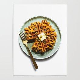 Pumpkin Waffles Poster
