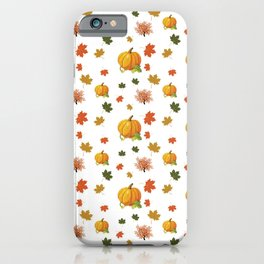 Cozy Autumn Harvest Pattern iPhone Case