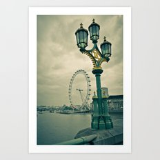 View of the London Eye Art Print