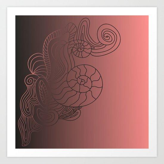 gradiention Art Print