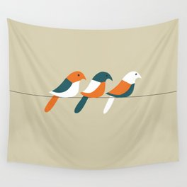 Birds on wire Wall Tapestry